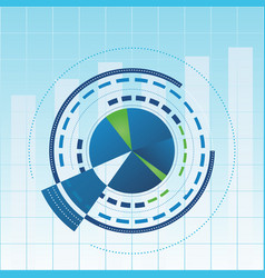 analytical report cover vector image vector image