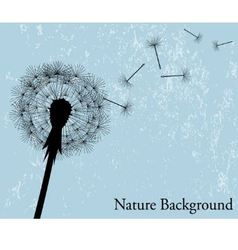 Background with dandelion vector