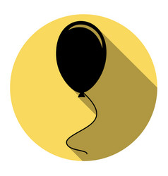 balloon sign flat black icon vector image