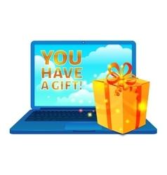 Buy Online Box Concept vector image vector image