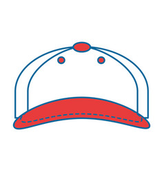 cap sport isolated icon vector image vector image