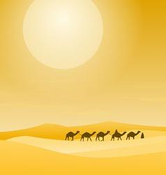 Caravan With Sand Dunes vector image vector image