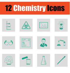chemistry icon set vector image vector image