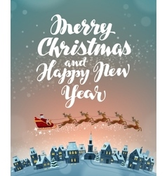 Christmas greeting card Xmas vector image