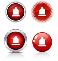 Condom buttons vector