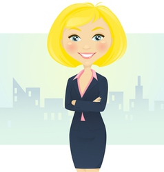 Cute businesswoman vector image vector image