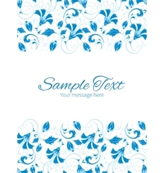 Dark blue turkish floral vertical double vector