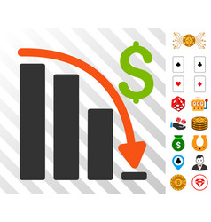 Default crisis fail icon with bonus vector