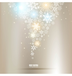 Elegant christmas background with snowflakes and p vector
