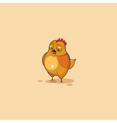 Emoji character cartoon hen sad and frustrated vector