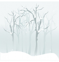 Forest snow vector