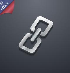 link icon symbol 3D style Trendy modern design vector image