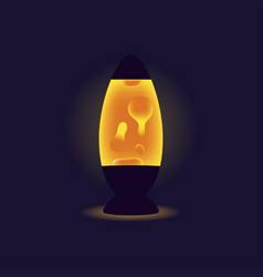 liquid lamp orange lava lamp on dark background vector image vector image