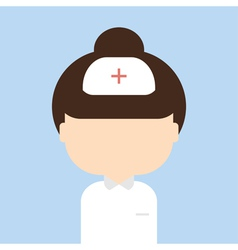Nurse trendy flat style vector image vector image