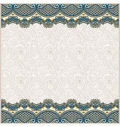 ornate floral background with two ornament stripe vector image