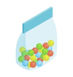 Package candy isometric 3d icon vector image
