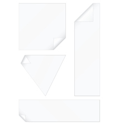peeled corners stickers set vector image