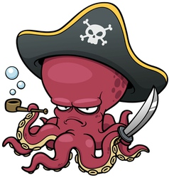 Pirate octopus vector image vector image