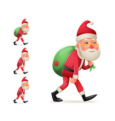 pleased happy satisfied christmas santa claus vector image