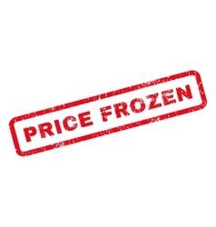 Price frozen rubber stamp vector