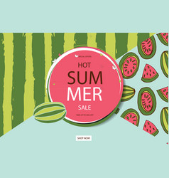 Summer sale in watermelon background vector