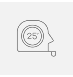 Tape measure line icon vector image