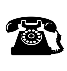 vintage telephone icon vector image vector image