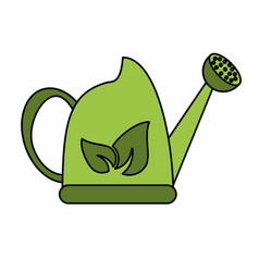 watering can with leaves icon image vector image vector image
