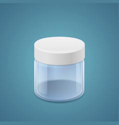 Wide jar vector image vector image