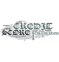 Z credit score calculator text word cloud concept vector
