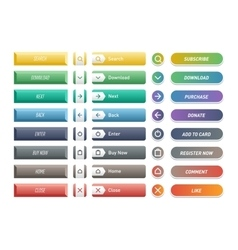Web buttons icons vector