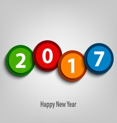 New Year wishes with colorful abstract design vector image