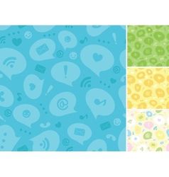 Internet message symbols seamless pattern vector image