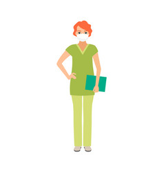 Female character of osteopath vector