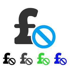 Forbidden pound payment flat icon vector