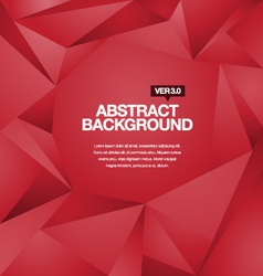 Polygonal background red vector
