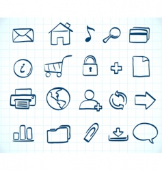 sketch icon set vector image