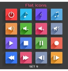 Flat application icons set 9 vector