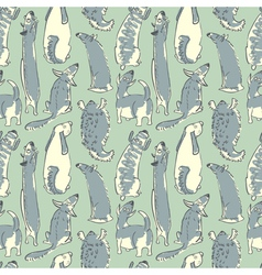 Pattern with dogs vector