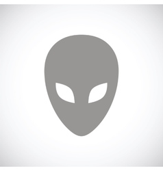 Alien black icon vector