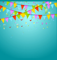 Party flags colorful celebrate abstract background vector