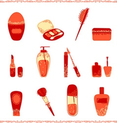 Cosmetics icon set vector