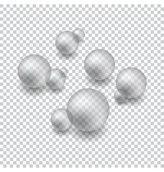 Background with transparent bubbles vector
