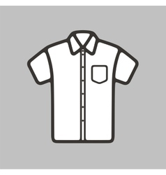 Shirt icon on background vector