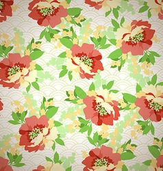 Floral seamless pattern with Flowers wild rose vector image