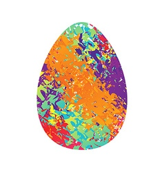Easter egg traditional easter egg on white vector