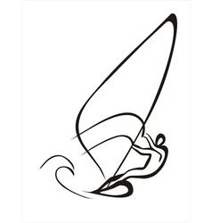 Windsurfer vector