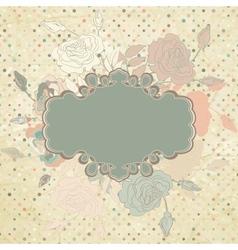Vintage roses floral background vector