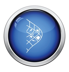 Icon of football ball in gate net vector