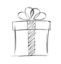 Big gift box isolated on white background vector